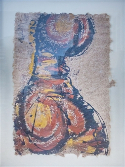 Ewa  - Mona Lisa Acrylic on Paper, Paintings