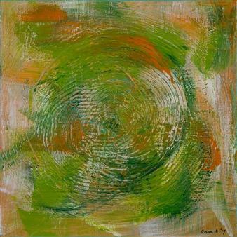 Anna K Art Katja van den Bogaert - Sand Storm Acrylic on Linen, Paintings