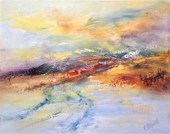 Christiane Palpant - Hidden Gem Oil on Canvas, Paintings