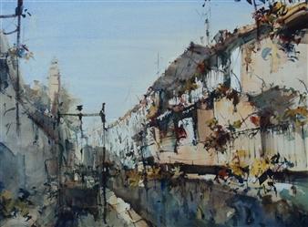 Alejandro Miras - Esclusa Watercolor, Paintings