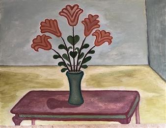 Merab Kardava - Flowers of Love Oil on Canvas, Paintings