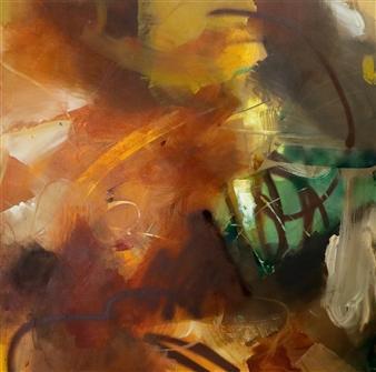 Abreesha Jones - Wholeness Acrylic, Spray Paint, Oil Pastel on Canvas, Mixed Media