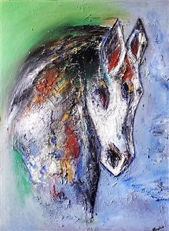 Rosalind Panda Dykla - Eternal Serenity Oil on Canvas, Paintings