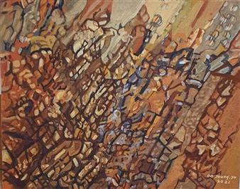 Soilart Jo-DoJoong - Knar 1 Soil on Canvas, Paintings