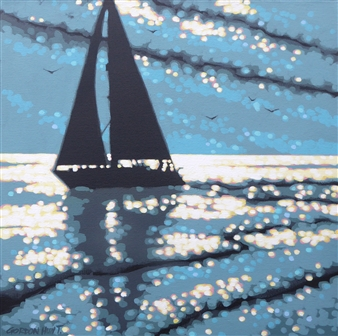 Gordon Hunt - Sailing the Sunshine Acrylic on Canvas, Paintings