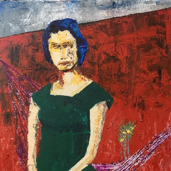 Luis Masana Arenas - Roja Mixed Media on Canvas, Mixed Media