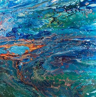 Deborah Helms - Ring on Fire Acrylic on Canvas, Paintings