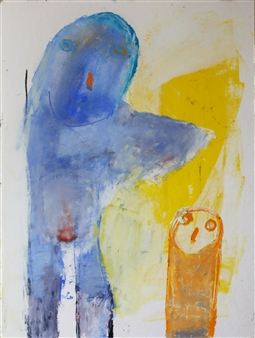 toNI Altenstrasser - Together Oil on Water Paper, Paintings