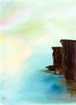 Christine Lückmann - Big Sur Oil on Canvas, Paintings