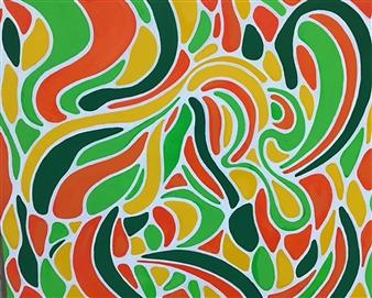Hiroko Saigusa - The Tree Acrylic on Canvas, Paintings