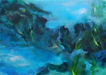 Ingrid Strecker - Underwater Acrylic on Canvas, Paintings
