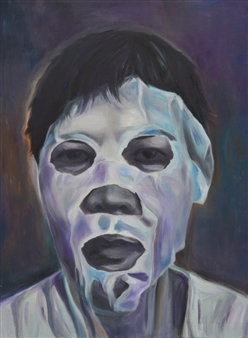 Grace Dam - The Mask Oil on Canvas, Paintings