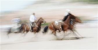 Danny Johananoff - Rodeo - 3 Photograph on Plexiglass, Photography