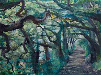Christine Storey-Lange - Magic Forest Egg Tempera, Oil Paint, & Oil Pastel on Canvas, Paintings