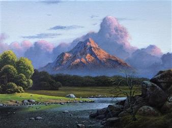 Mauricio Valdiviezo - Cieloclaro Acrylic on Canvas, Paintings