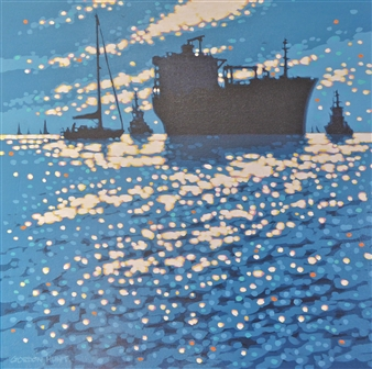 Gordon Hunt - Working Boats & Leisure Boats Acrylic on Canvas, Paintings