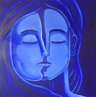 Mario España - Harmony Oil on Canvas, Paintings