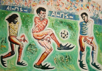 Jose Pedro Alonso Miralles - Campeones Oil on Canvas, Paintings