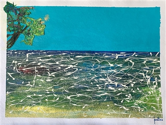 Ignatius - Orbs Acrylic on Paper, Paintings