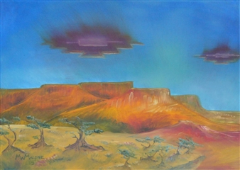 Mark W. Malone - Native Sunset Oil on Canvas, Paintings