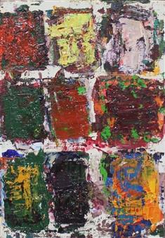 Masaoki Mitsutake - Texture No.5 Oil on Canvas, Paintings