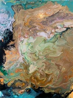 Pauline Rakis - Girl on the Cliff Acrylic on Canvas, Paintings