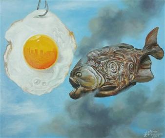 Helena Zyryanova - Aggression Oil on Canvas, Paintings