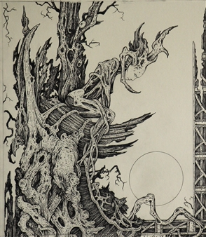Michael Livolsi - Dryad Pen on Paper, Drawings