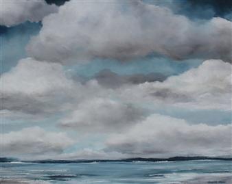 Elizabeth Sabine - Seascape No. 64 Oil on Canvas, Paintings