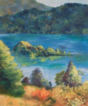 Margaret Adams - Fanette Island Oil on Canvas, Paintings
