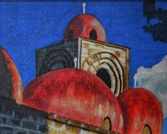 Silvia Mónica Giammatteo - Las Cùpulas de San Giminnianno Palermo Acrylic on Canvas, Paintings