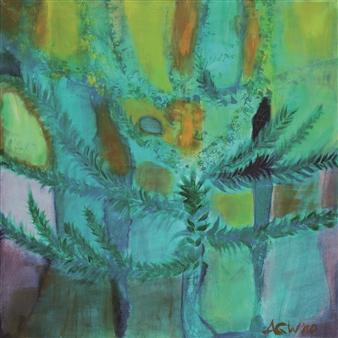 Gerlinde Amei Wöllmer - Araucaria Acrylic & Gouache on Canvas, Paintings