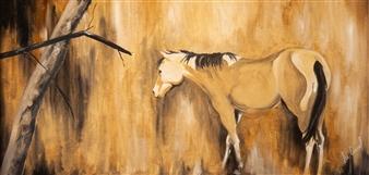 Francisco Coronel Gándara - Untitled #6 Oil on Wood, Paintings