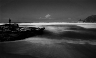Gonzalo Urrea Correa - Pescador Black & White Digital Photography on Hahnemuhle Cotton Paper, Photography