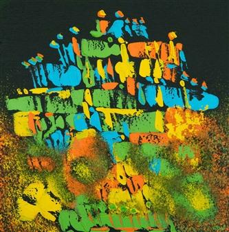 RAN - Free Rein Acrylic on Canvas, Paintings