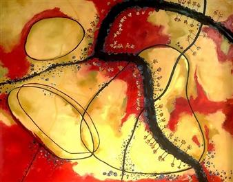 Christine Vella - Death on the Landscape Oil on Canvas, Paintings