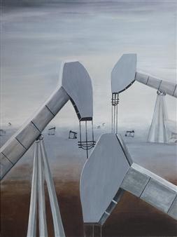 Janice Boswell Wueste - Steel Secrets Mixed Media on Canvas, Mixed Media