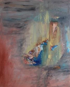 Clea von Döhren - Ashes Mixed Media on Canvas, Mixed Media