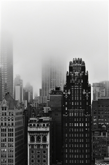 Moving Elephant by Mark - NYC The Fog Silver Gelatin Print, Photography