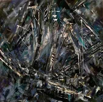 Terry Firkins - Magellan Oil with Mixed Media on Canvas, Mixed Media
