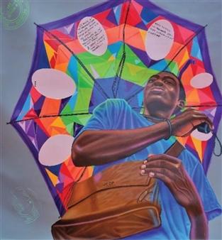 Roberto Tores Pare Mouamfon - Ombre-la Acrylic on Canvas, Paintings