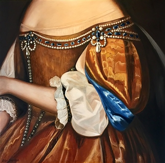 Garese - Finery / Parure n°3 Oil on Canvas, Paintings