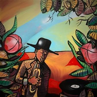 Erik Neimeijer - The Nearness of You Acrylic & Airbrush on Linen, Paintings