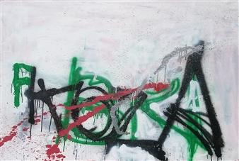 Marek Wasylewicz - Grafitti 9 Acrylic on Canvas, Paintings