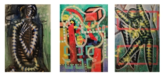 Koncept Feniks - Angel_02, 1987-2015 Dispersion & Gouache on Paper, Paintings