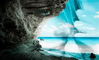 Mila Gerasimova - Disappearing Digital Photo Collage on Canvas, Digital Art