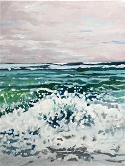 Gabriella Mirabelli - South Beach MV Surf Acrylic on Canvas, Paintings