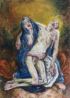 Germán Valles Fernández - Piedy Oil on Canvas, Paintings