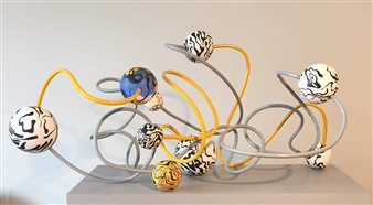 Joanne Syrop - Float B Acrylic on Wood, Wire & Tubing, Sculpture