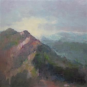 Becky Sungja Kim - Morning Walk Oil on Canvas, Paintings